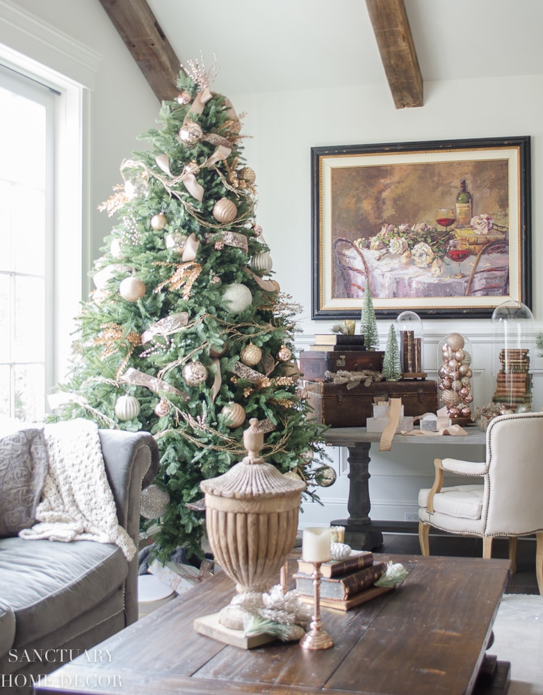 French farmhouse Christmas tree decorations
