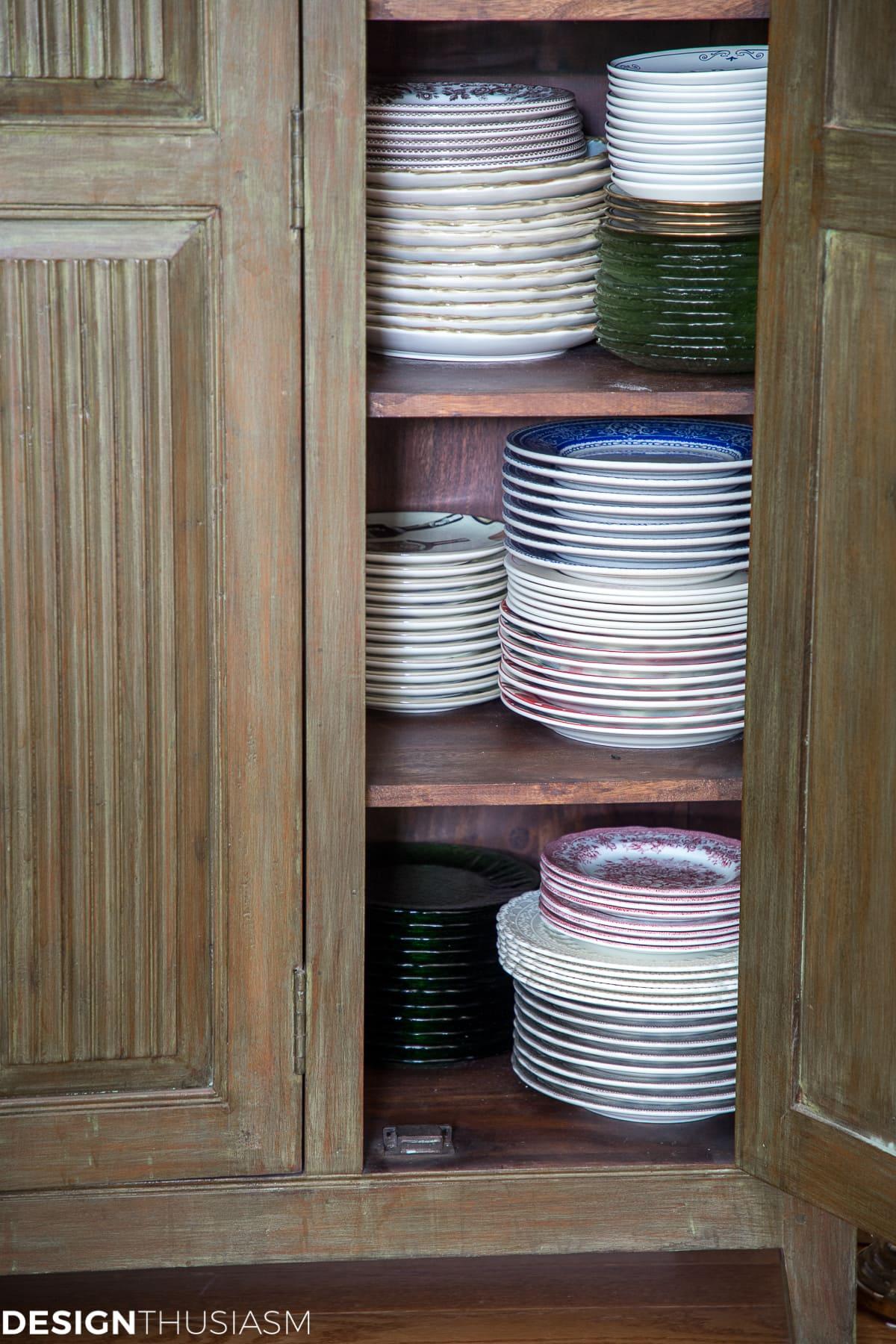 dish storage and organization ideas
