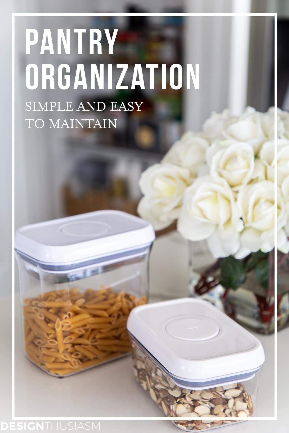 organized kitchen pantry containers