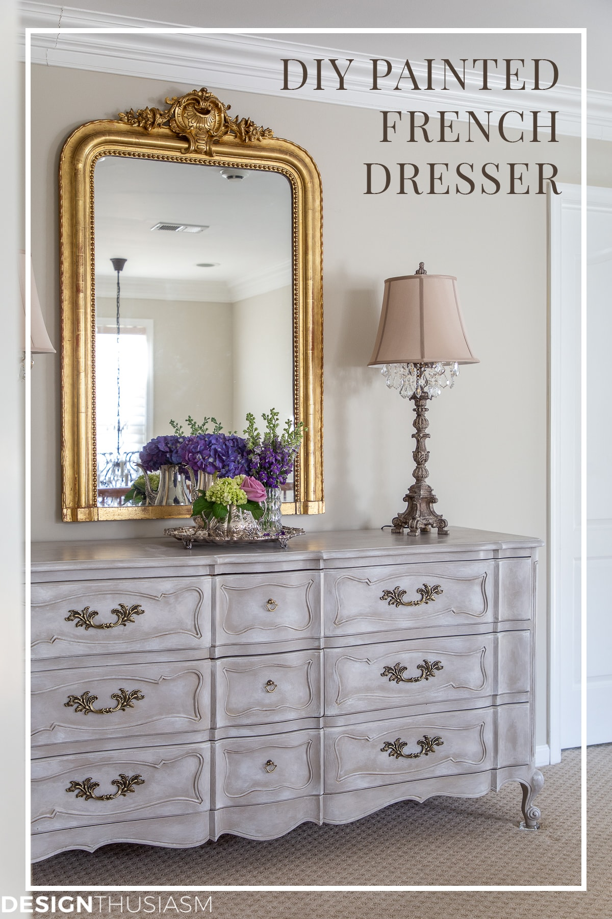 DIY vintage french painted dresser