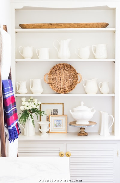How to Decorate Shelves from On Sutton Place