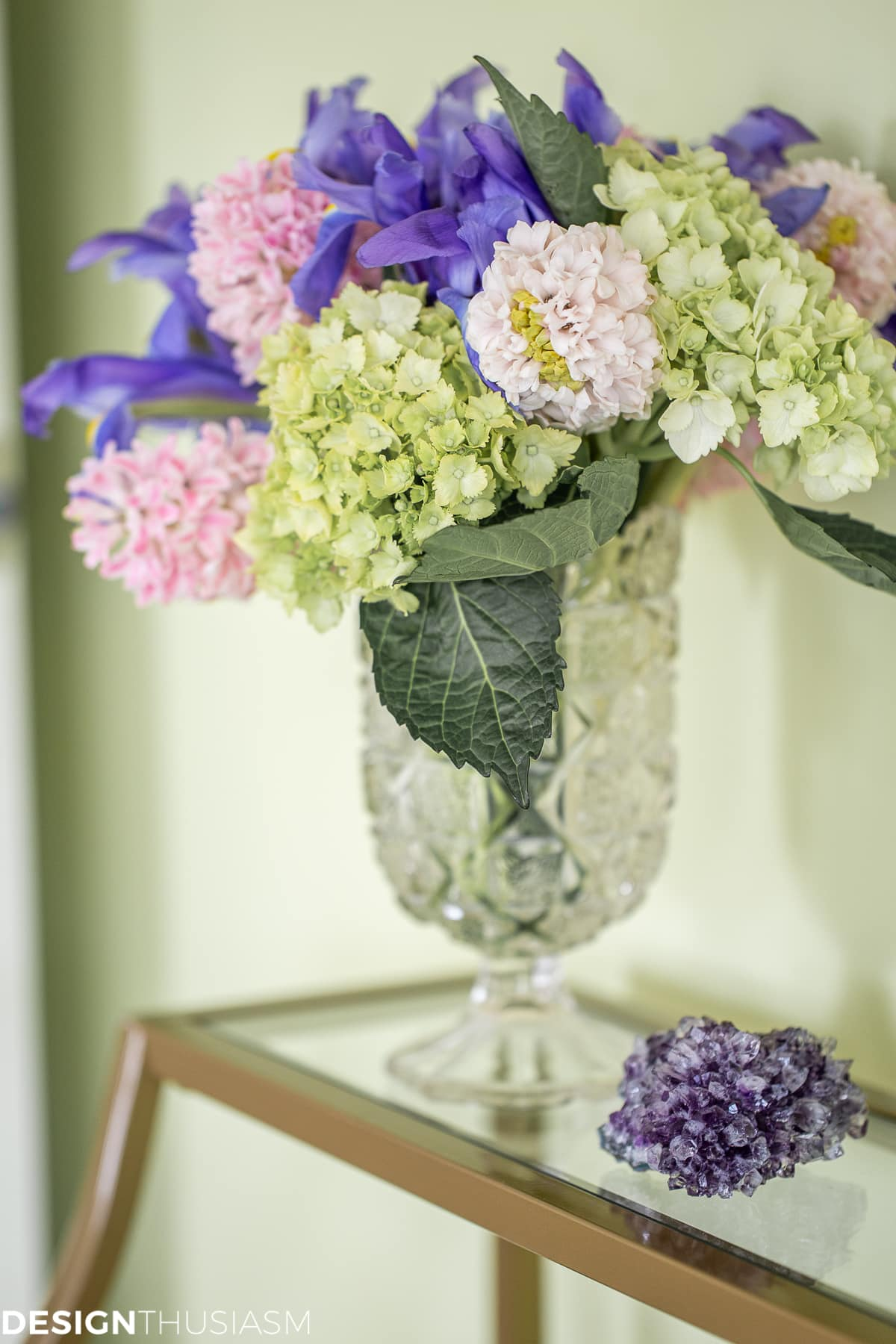 spring floral in the master bedroom