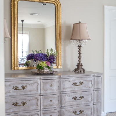 Vintage French Painted Dresser and Upstairs Hallway Reveal