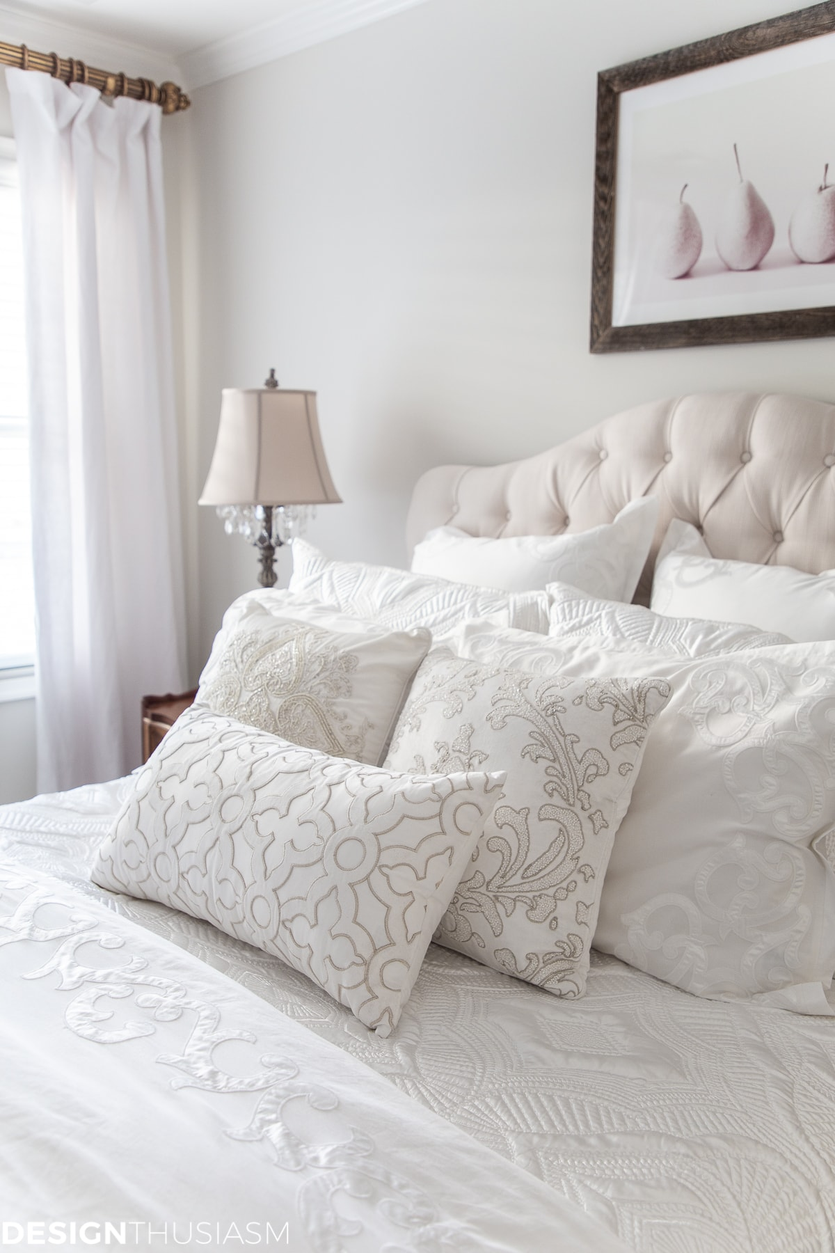luxury white bed linen