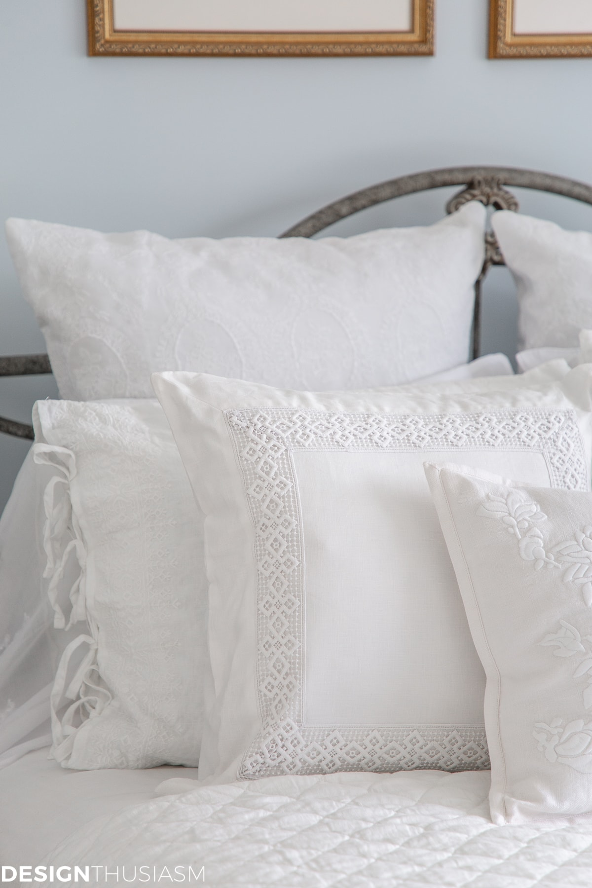 luxury white bedding pillow shams