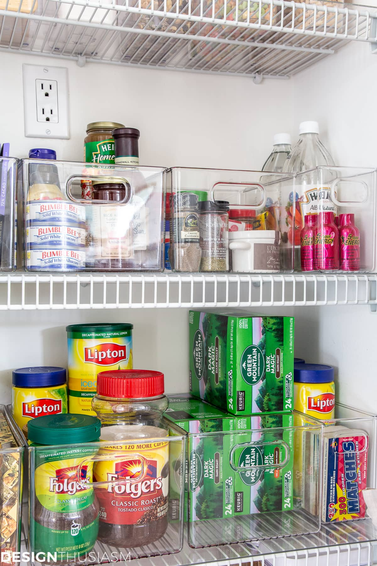kitchen pantry organization plastic bins