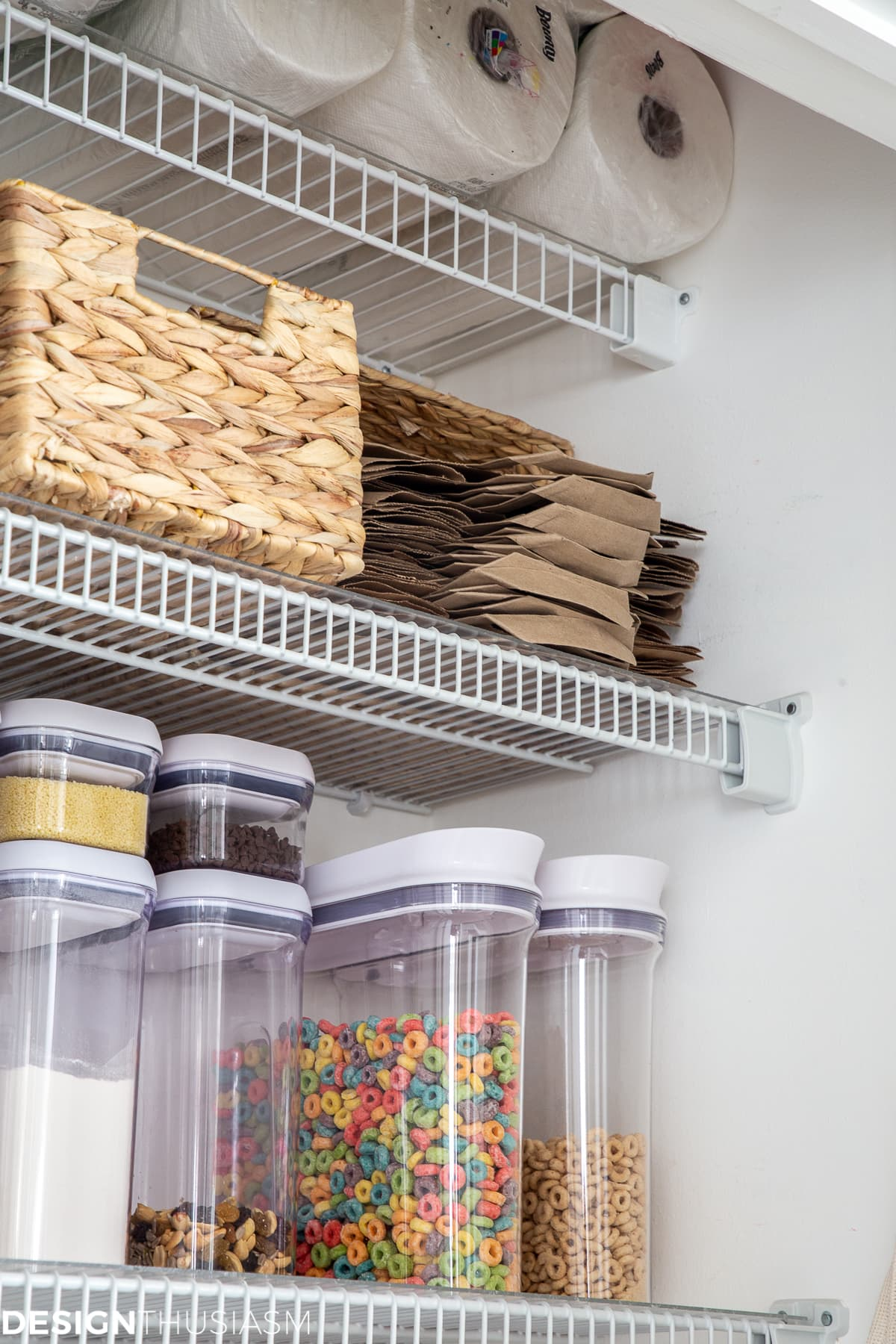 kitchen pantry grocery bag storage