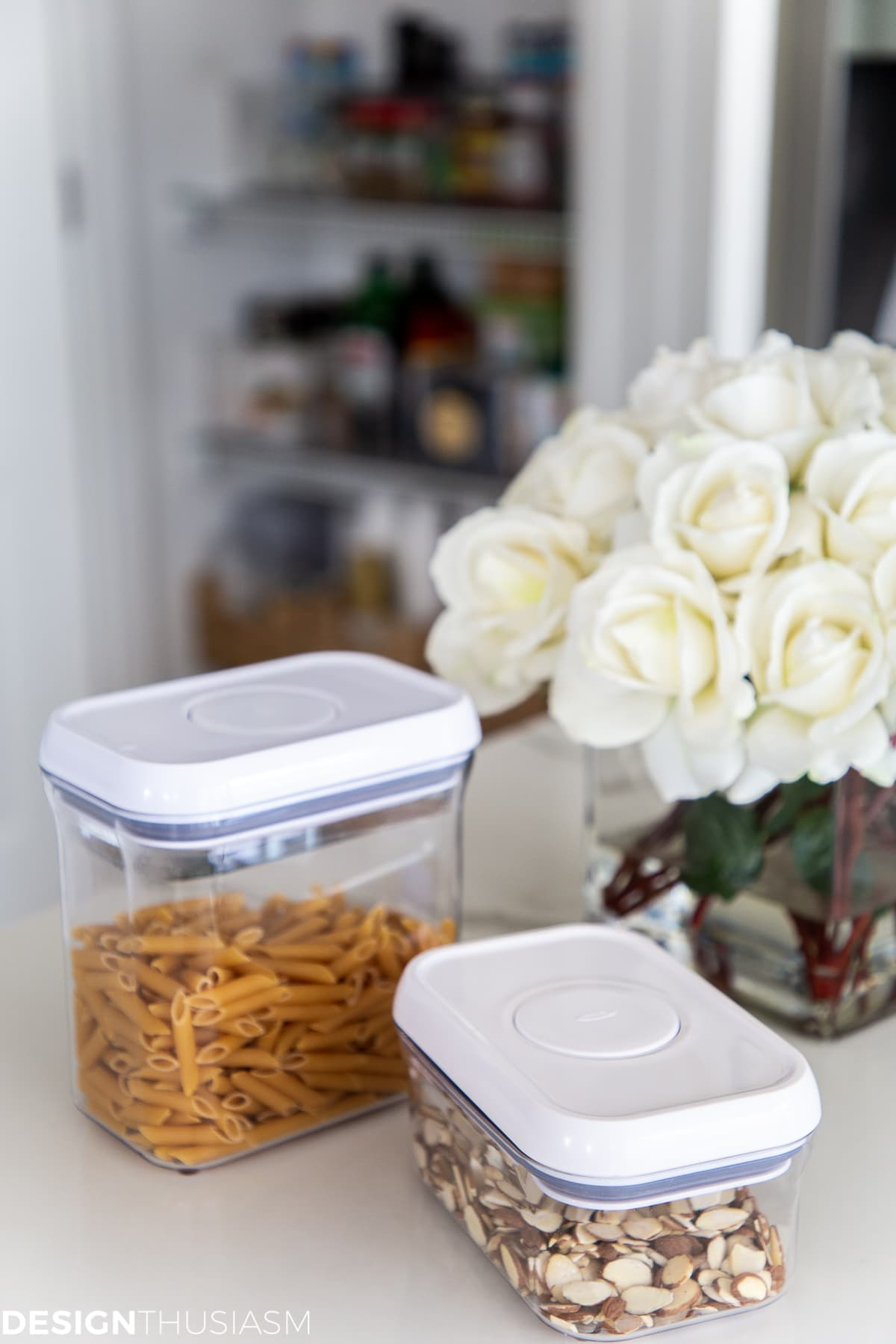 Oxo containers for food storage in the pantry