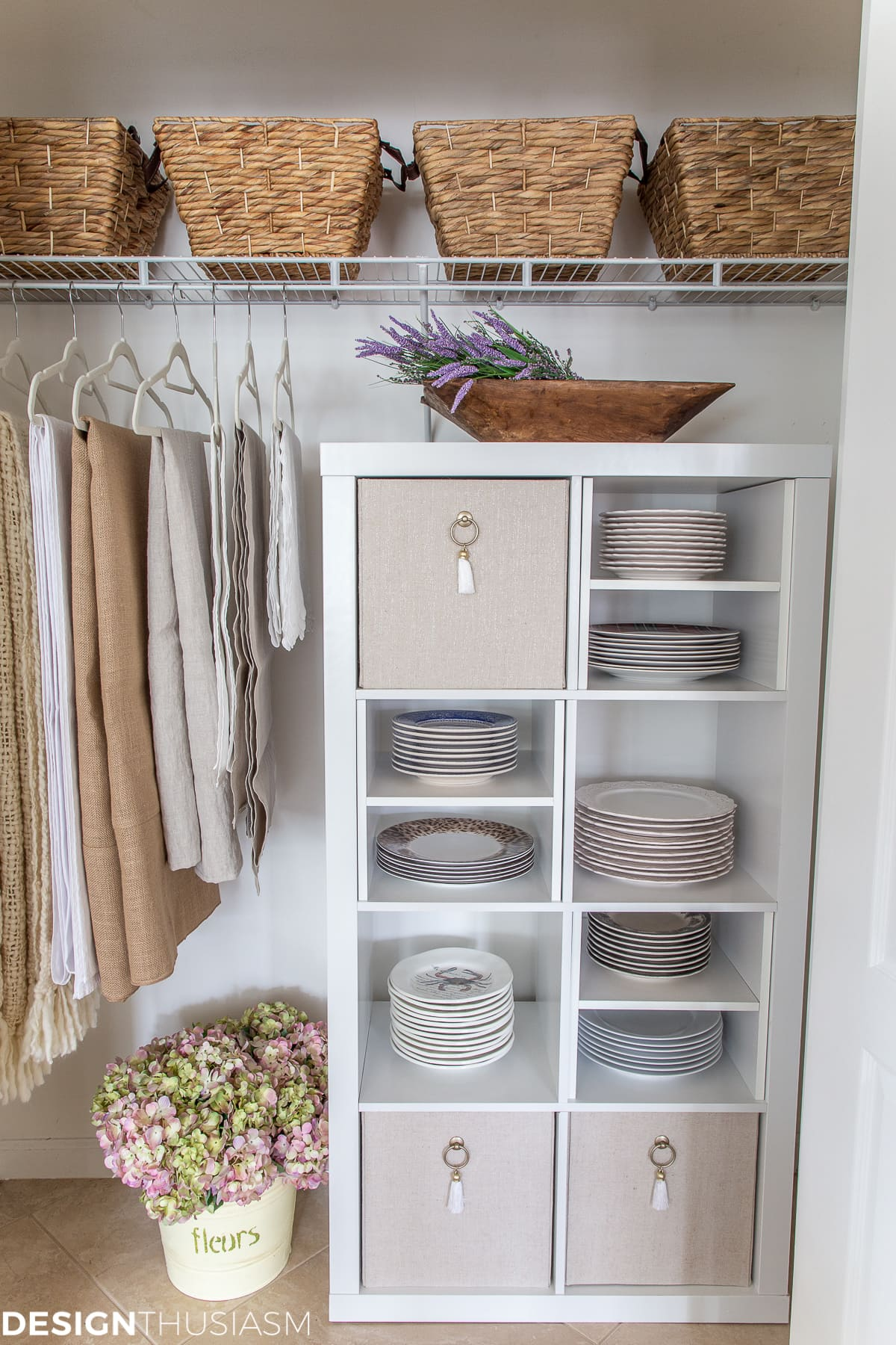 closet design for plate storage
