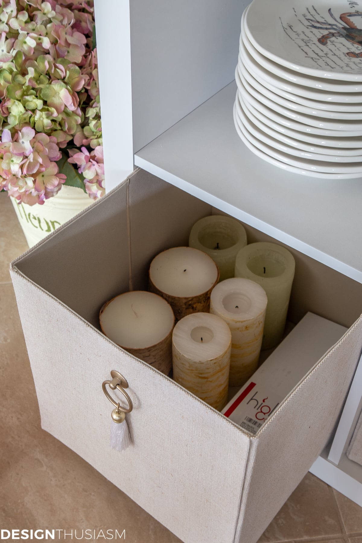 storage bins for DIY closet shelving