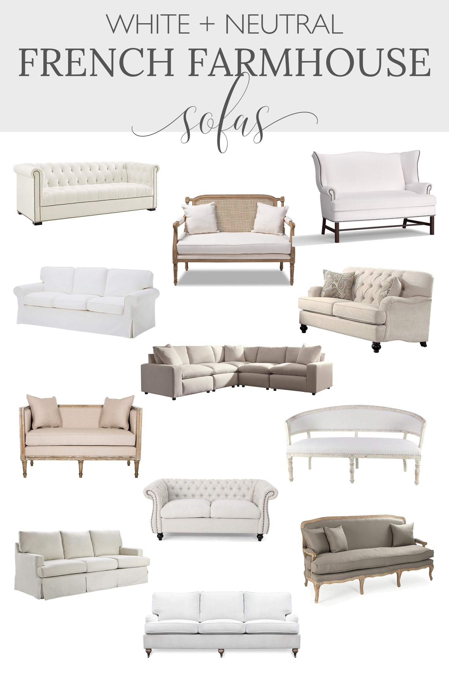 Farmhouse living room sofas