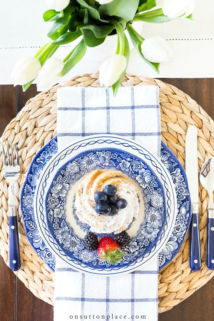 Blue & White Tablescape from On Sutton Place