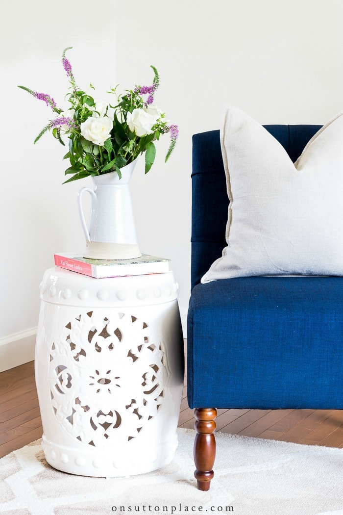 Ceramic Stool Styling Ideas from On Sutton Place