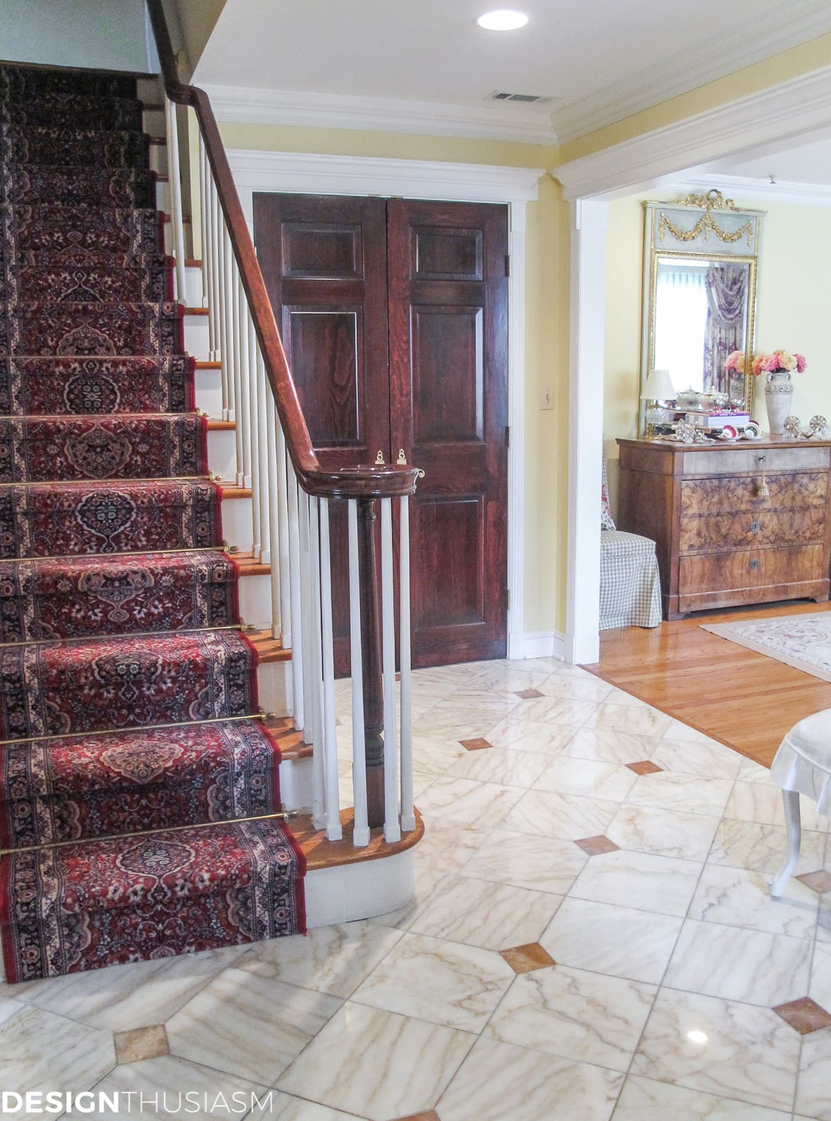 French Country entry foyer