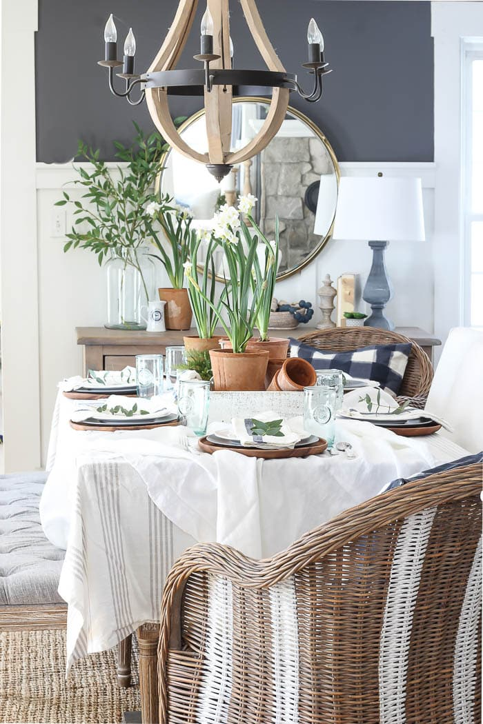 Garden Pots Tablescape - Rooms for Rent