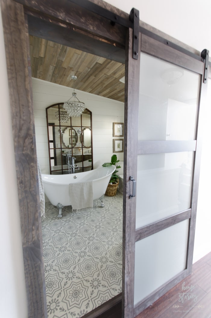 Home Stories Bathroom Barn Door
