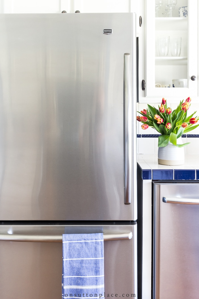 Refrigerator Organization Ideas from On Sutton Place