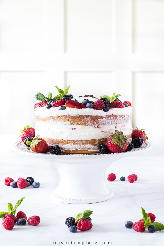 Simplified Berry Chantilly Cake from On Sutton Place