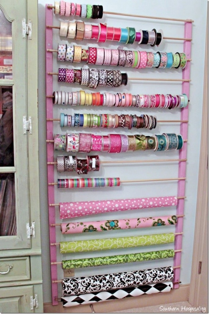 home organizinghome organizing ribbon storage