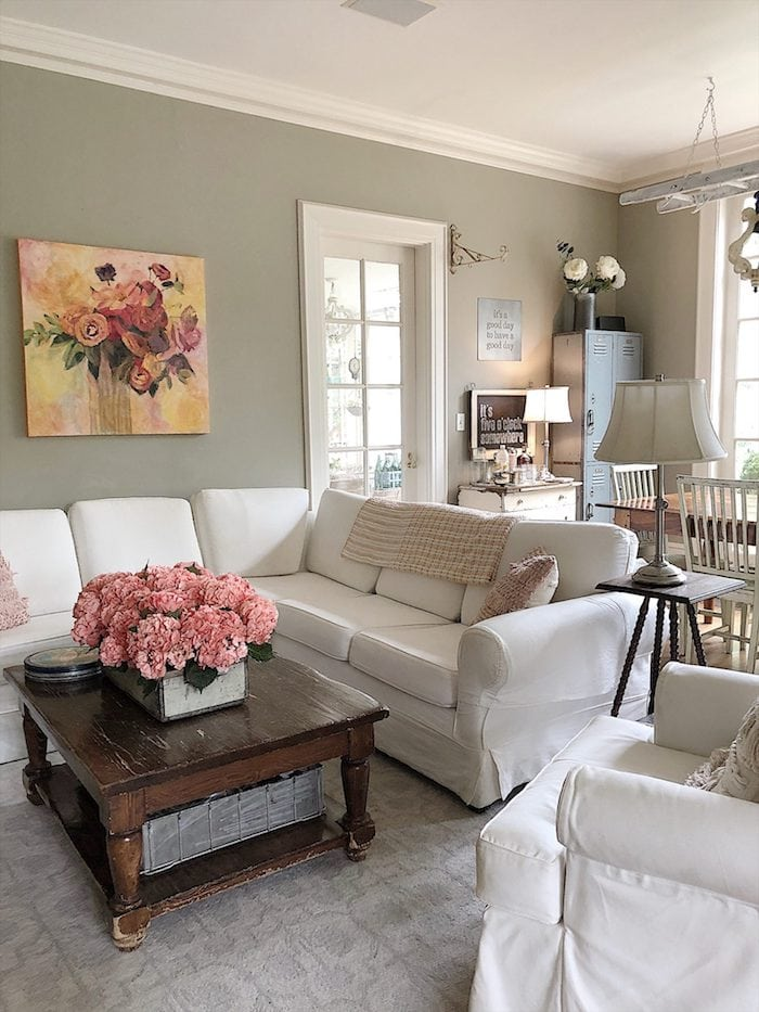 how to add color to your family room