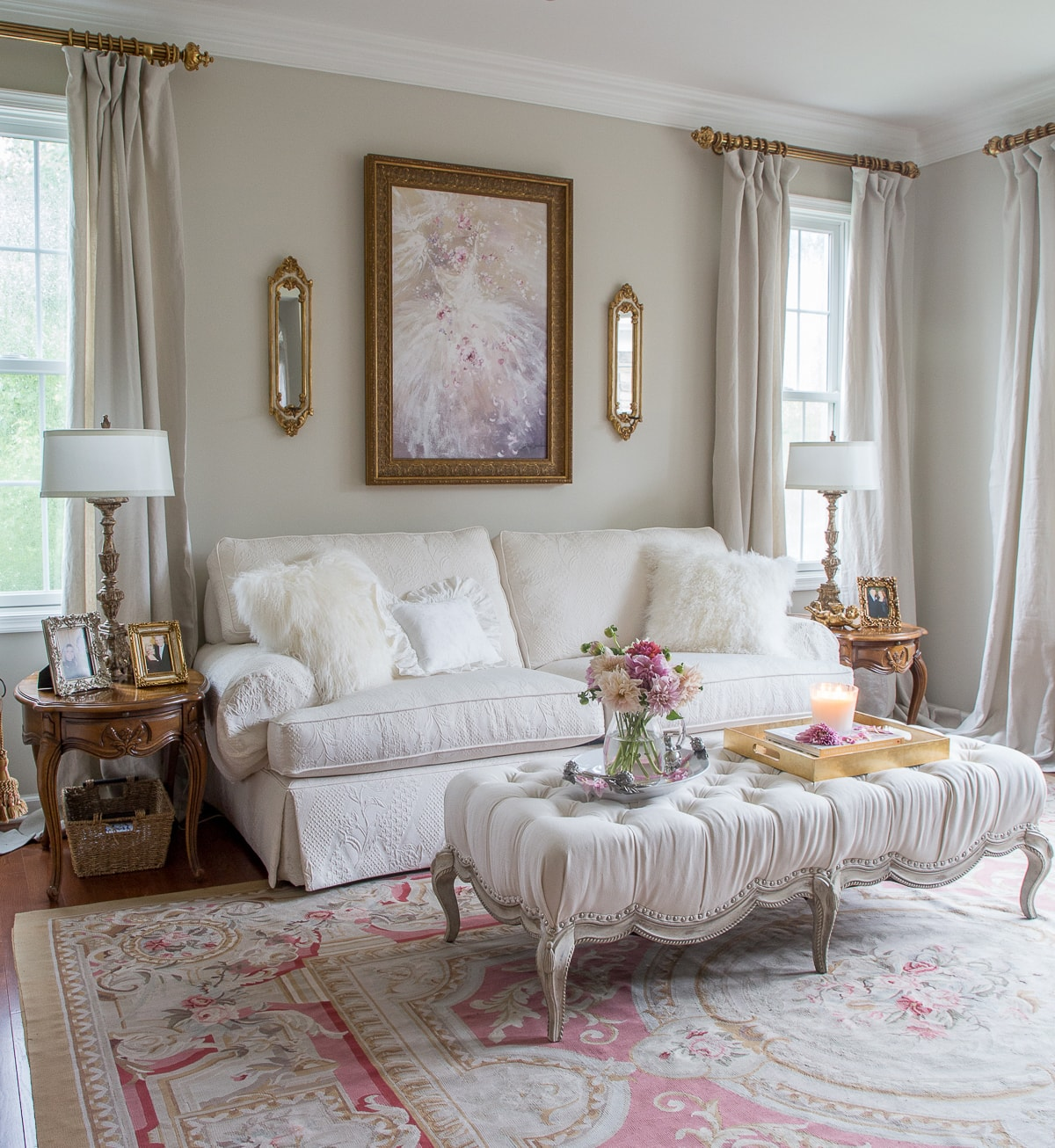 french country living room sofa