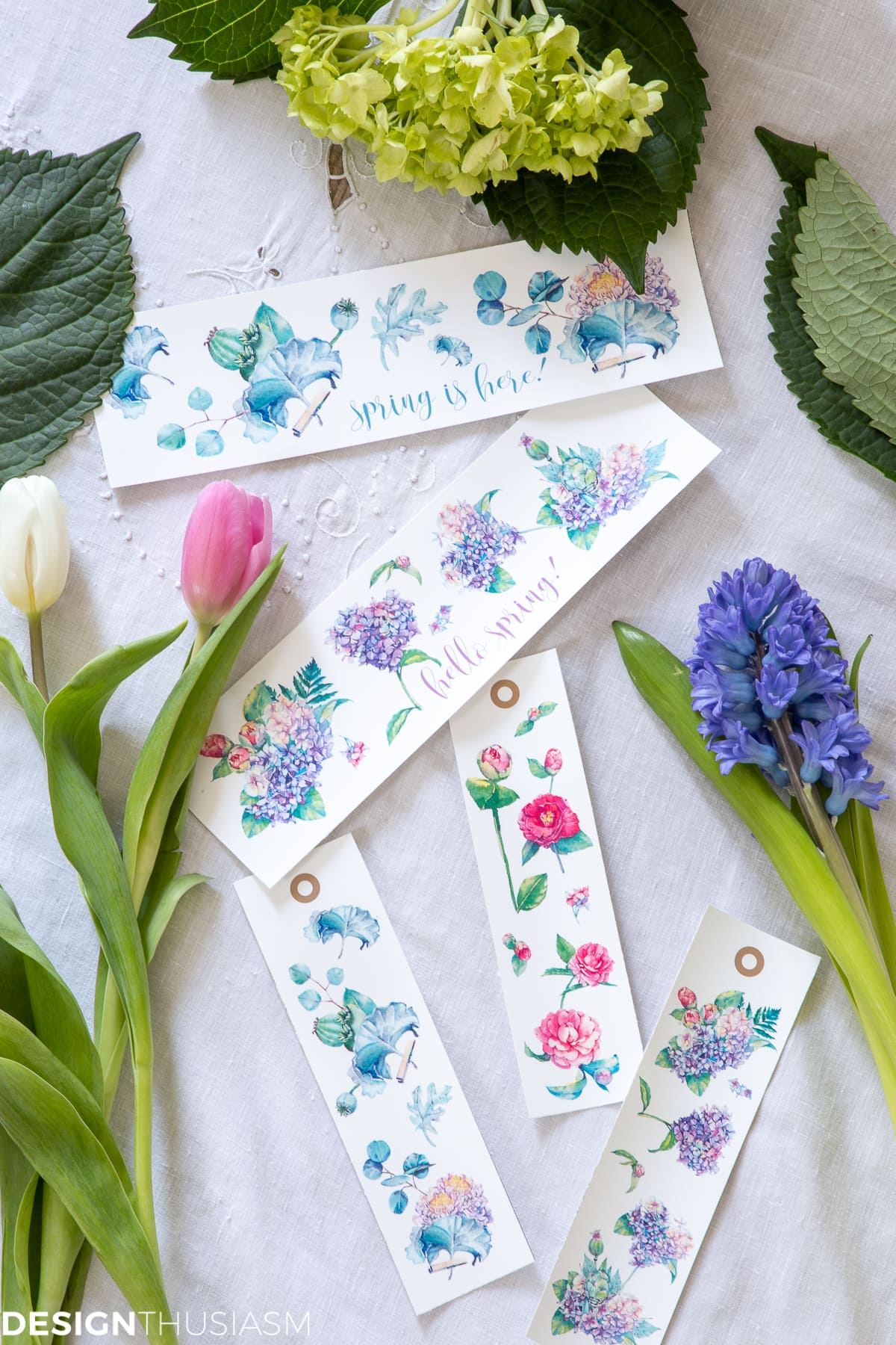 spring printable bookmarks and labels