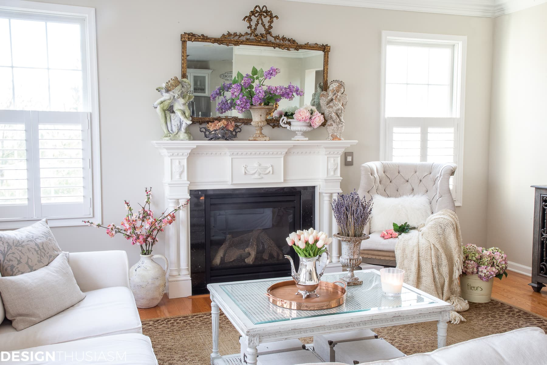 spring decor for the living room