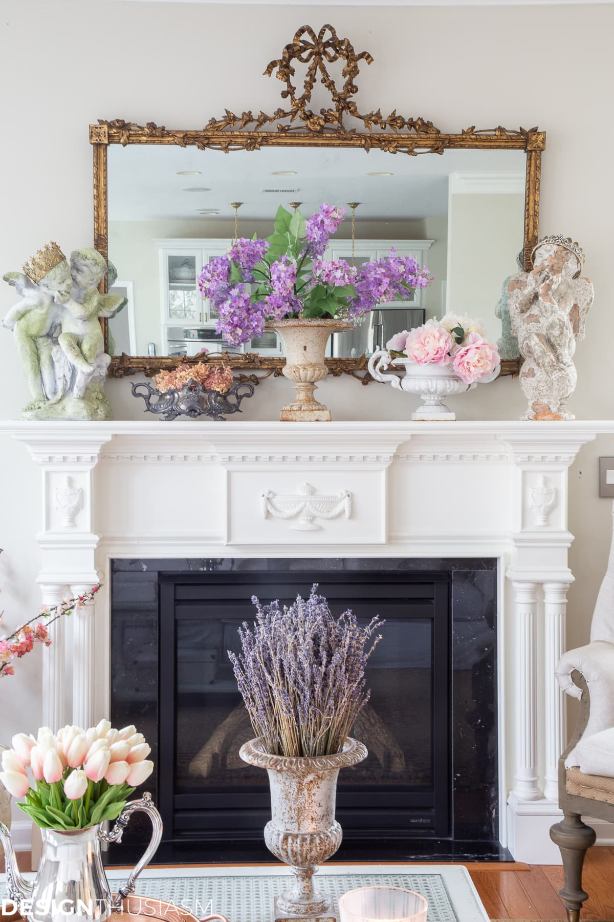 spring mantel garden decor