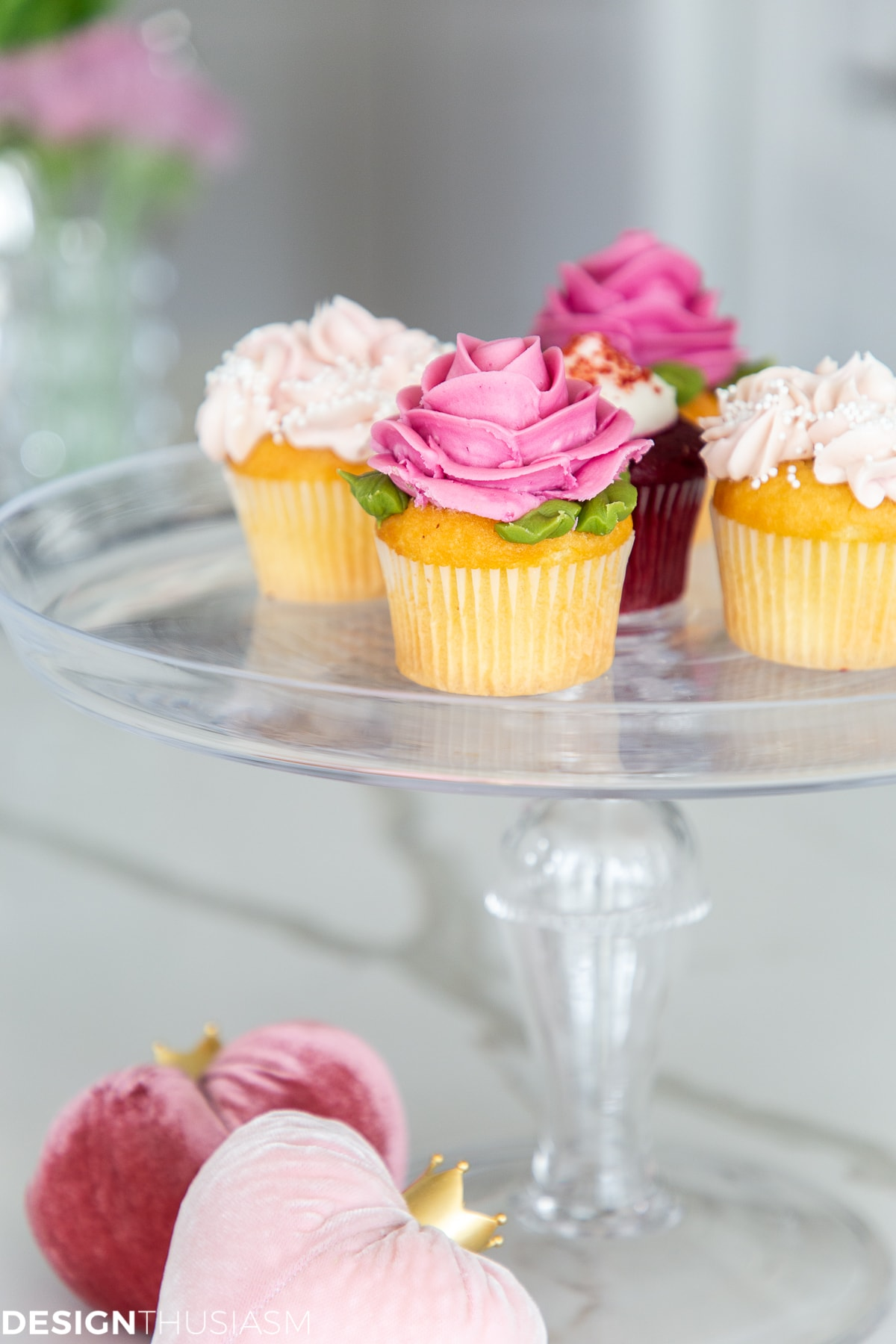 romantic cupcakes kitchen decor