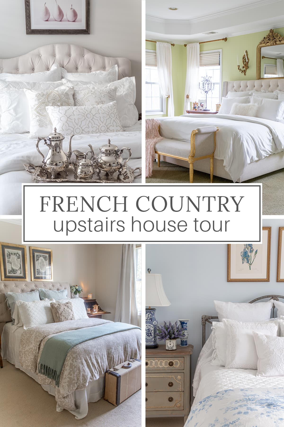 French Country upstair house tour