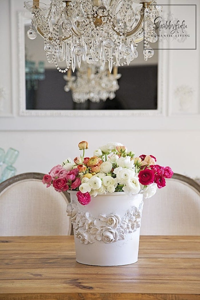 How To Make A Beautiful Flower Bucket From A Plastic Planter