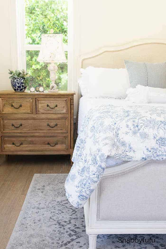 Soft French Country Style Bedroom For Warmer Months