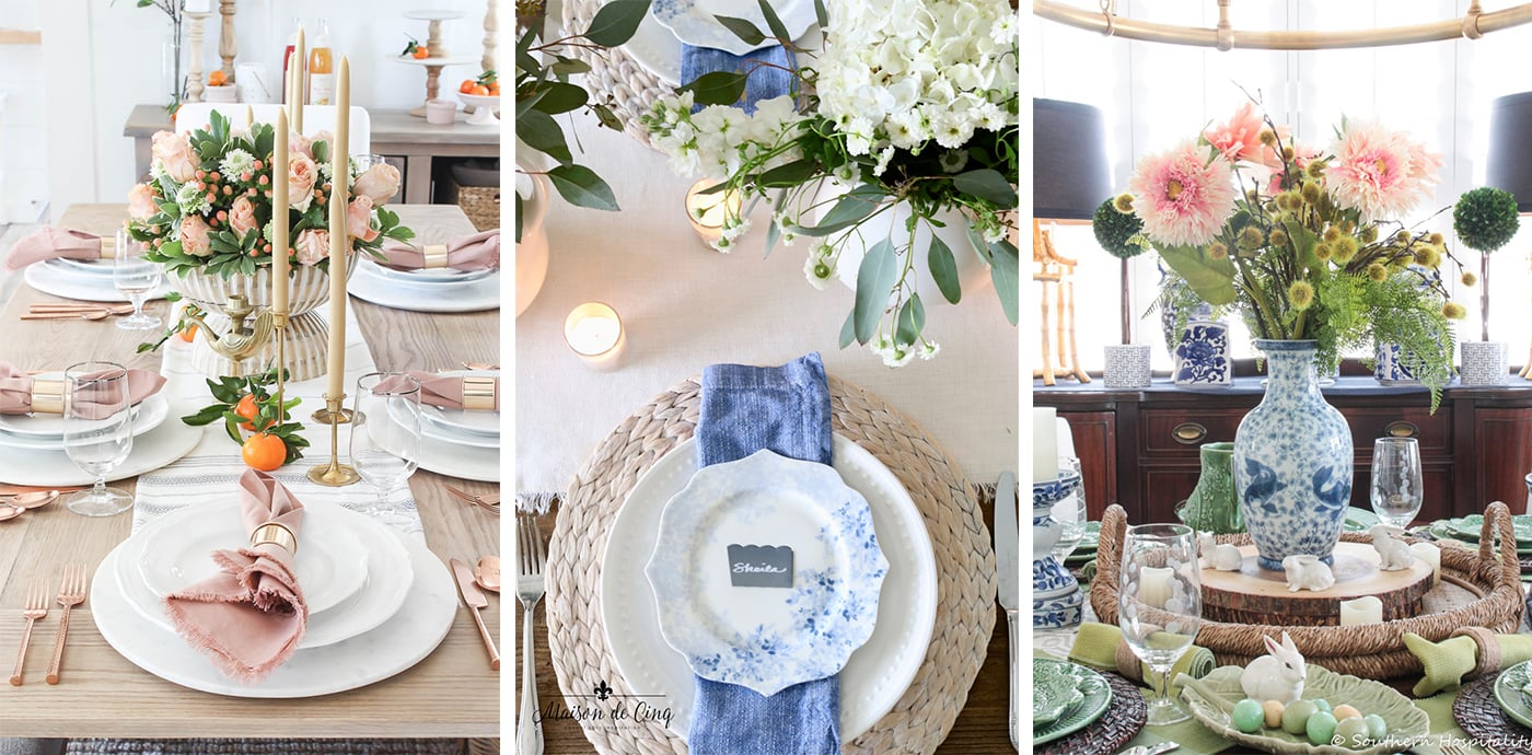 Spring series tablescapes