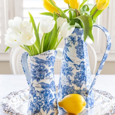 Blue and White Decor for Spring and a DIY Chinoiserie Paper Craft