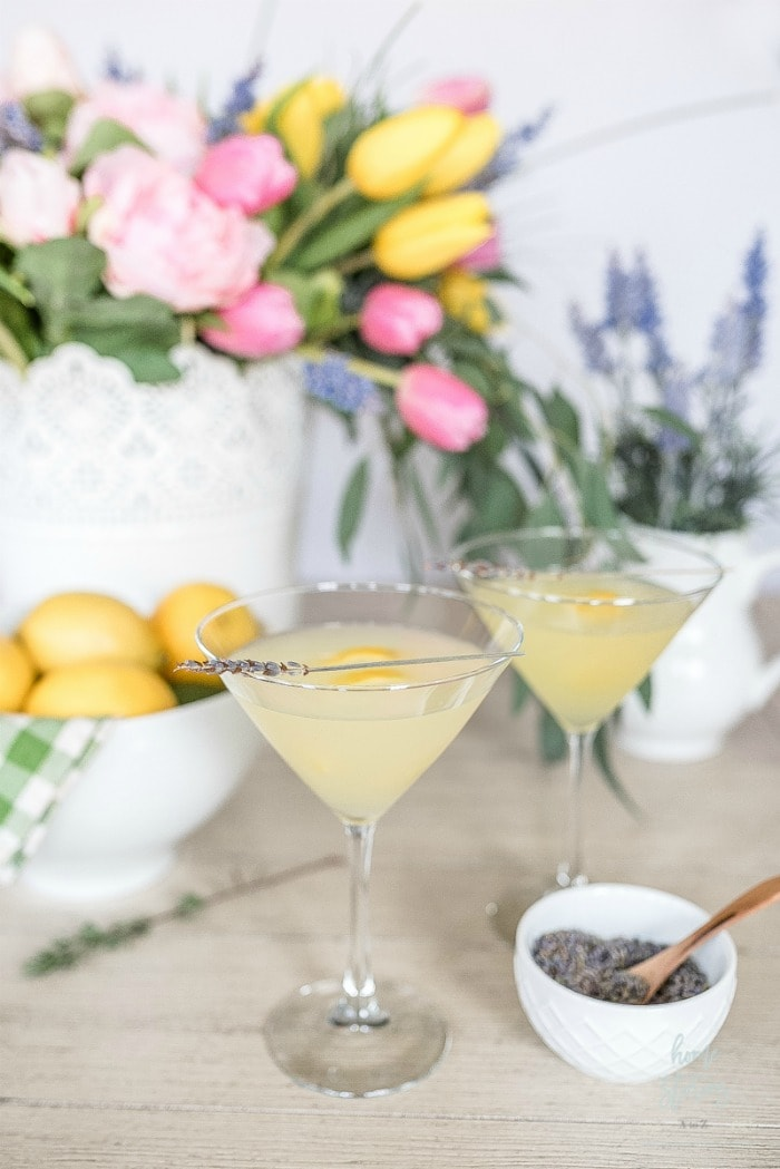 lemon lavender martini