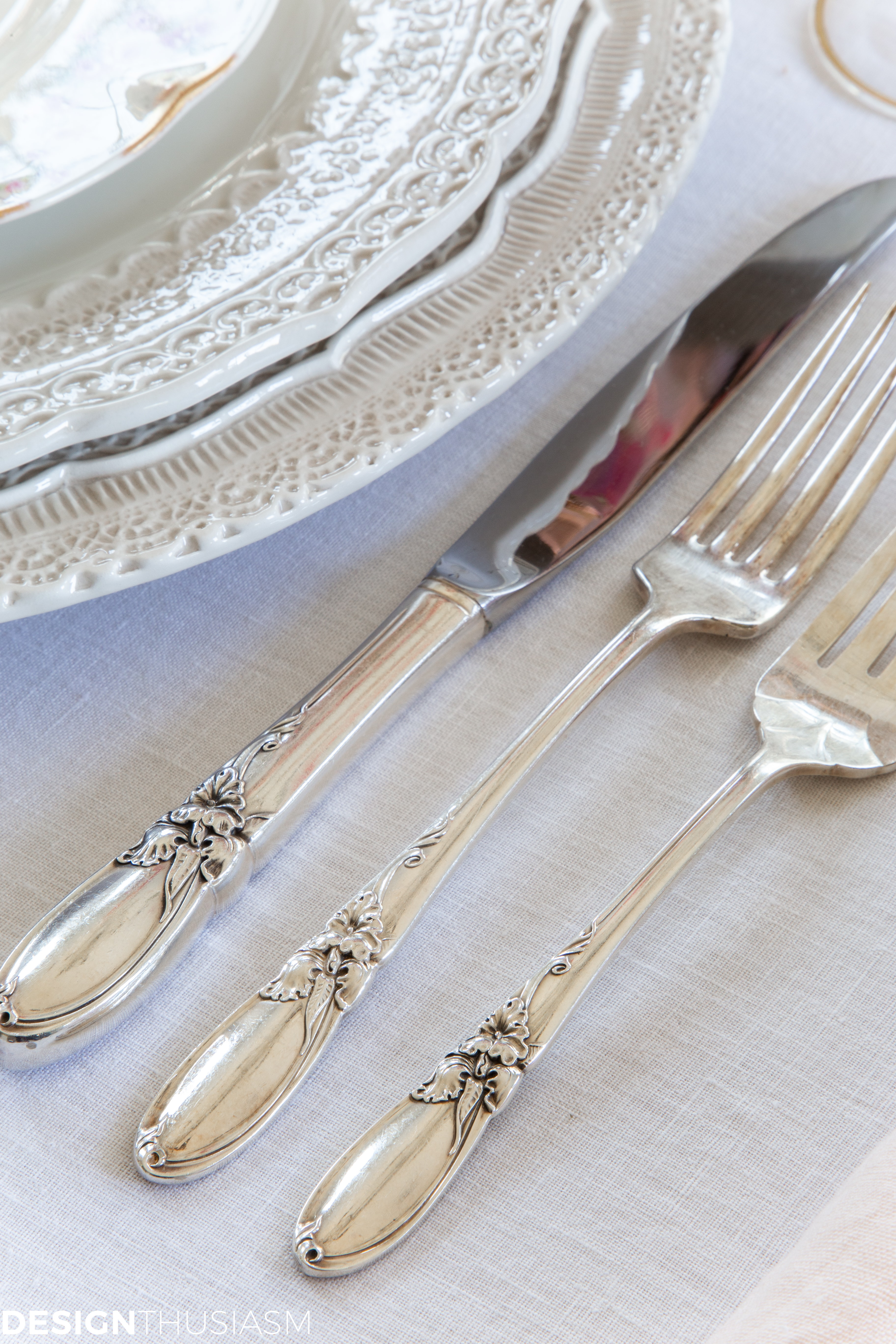flatware for easter table setting