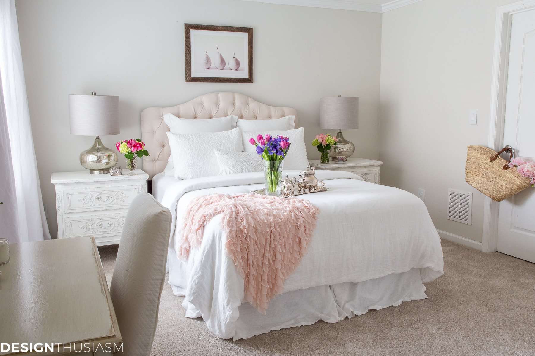 White Bedroom Ideas Adding Pops Of Color To A Serene White Bedroom