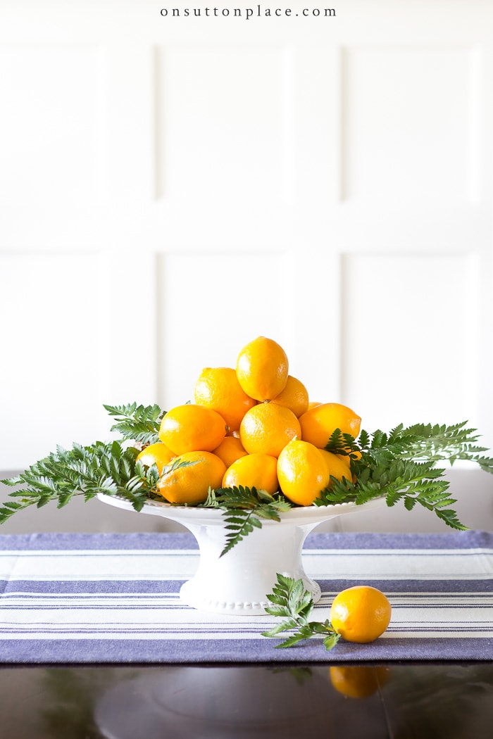 Meyer Lemon Centerpiece from On Sutton Place