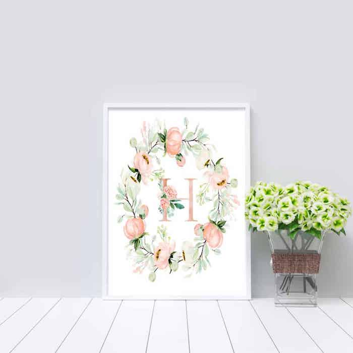 Monogram Printables – Free Spring DIY Art