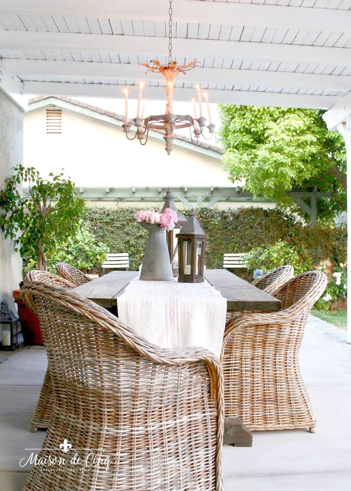 Outdoor Chandeliers from Maison de Cinq