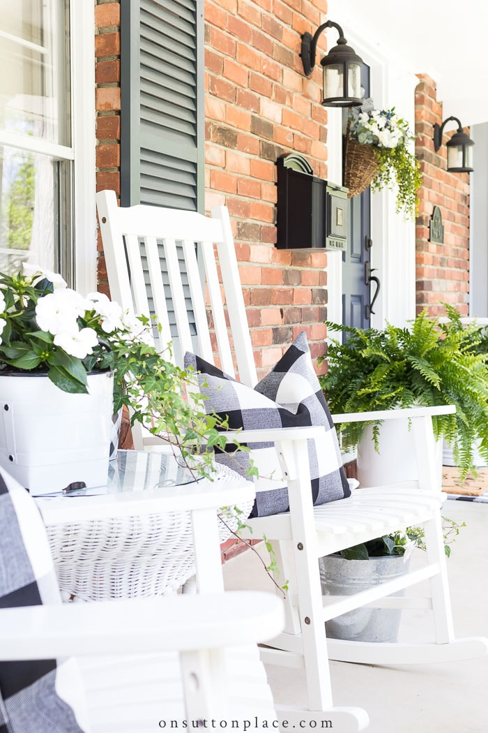 Porch Decor Tips from On Sutton Place