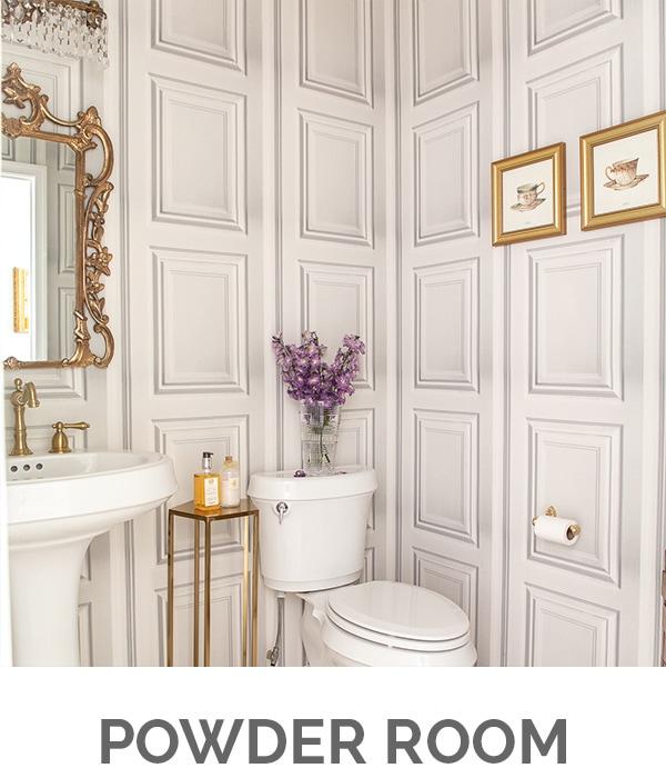 Shop My Home - Powder Room - Designthusiasm.com