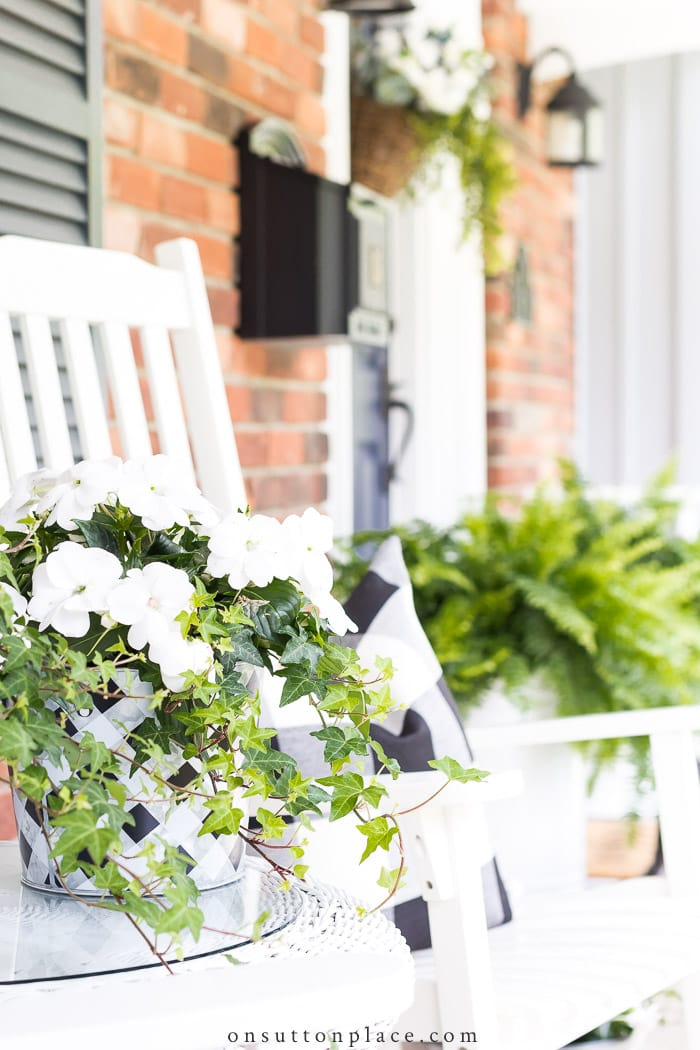 Spring Front Porch Decor from On Sutton Place