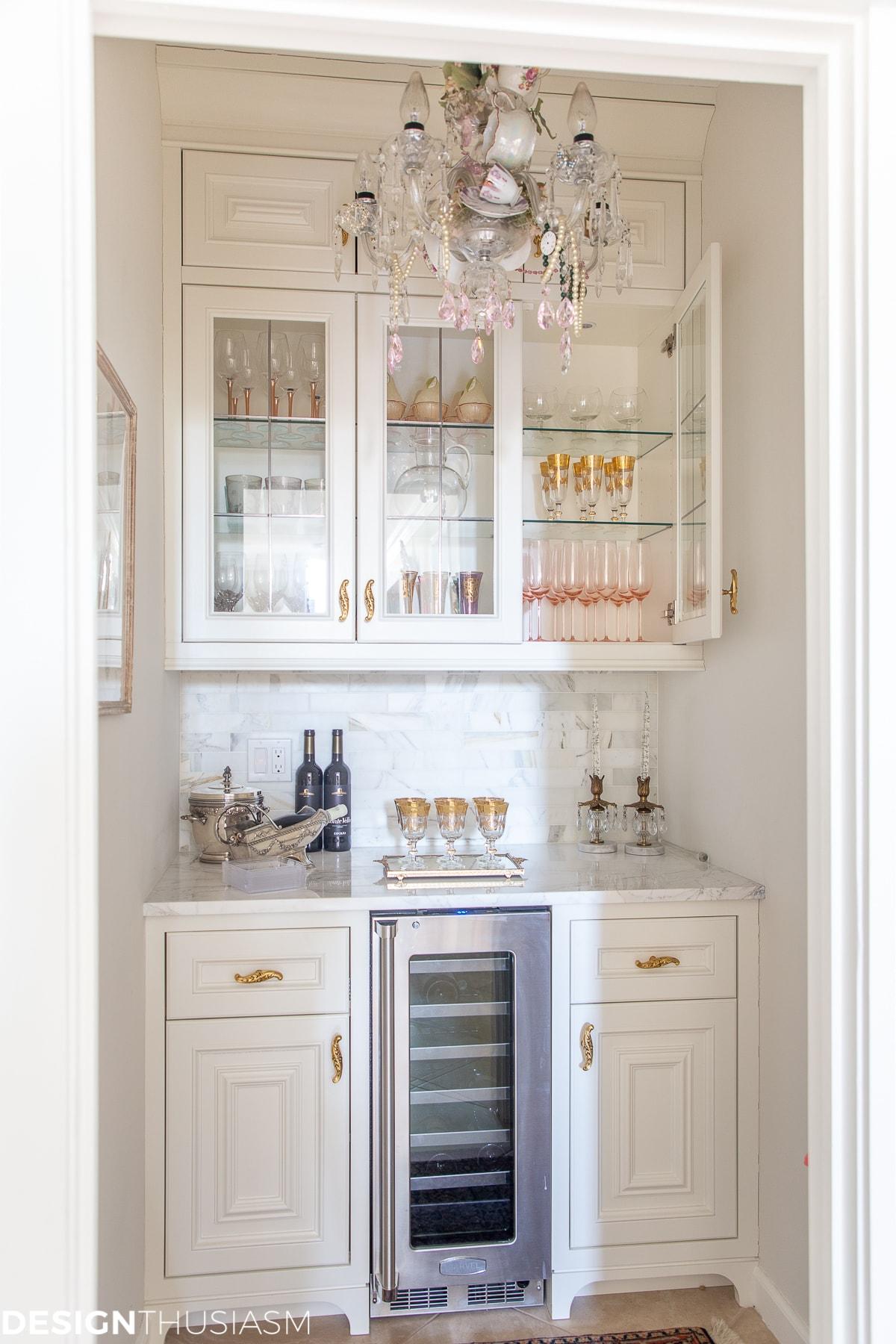 butler's pantry stemware storage