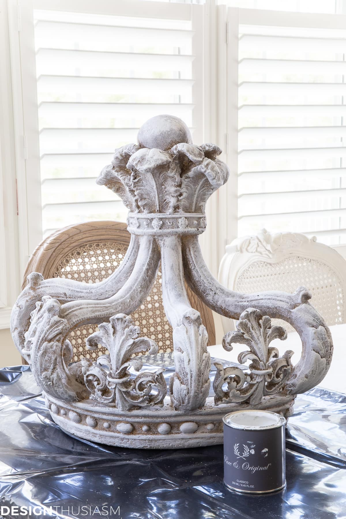 painted French country crown