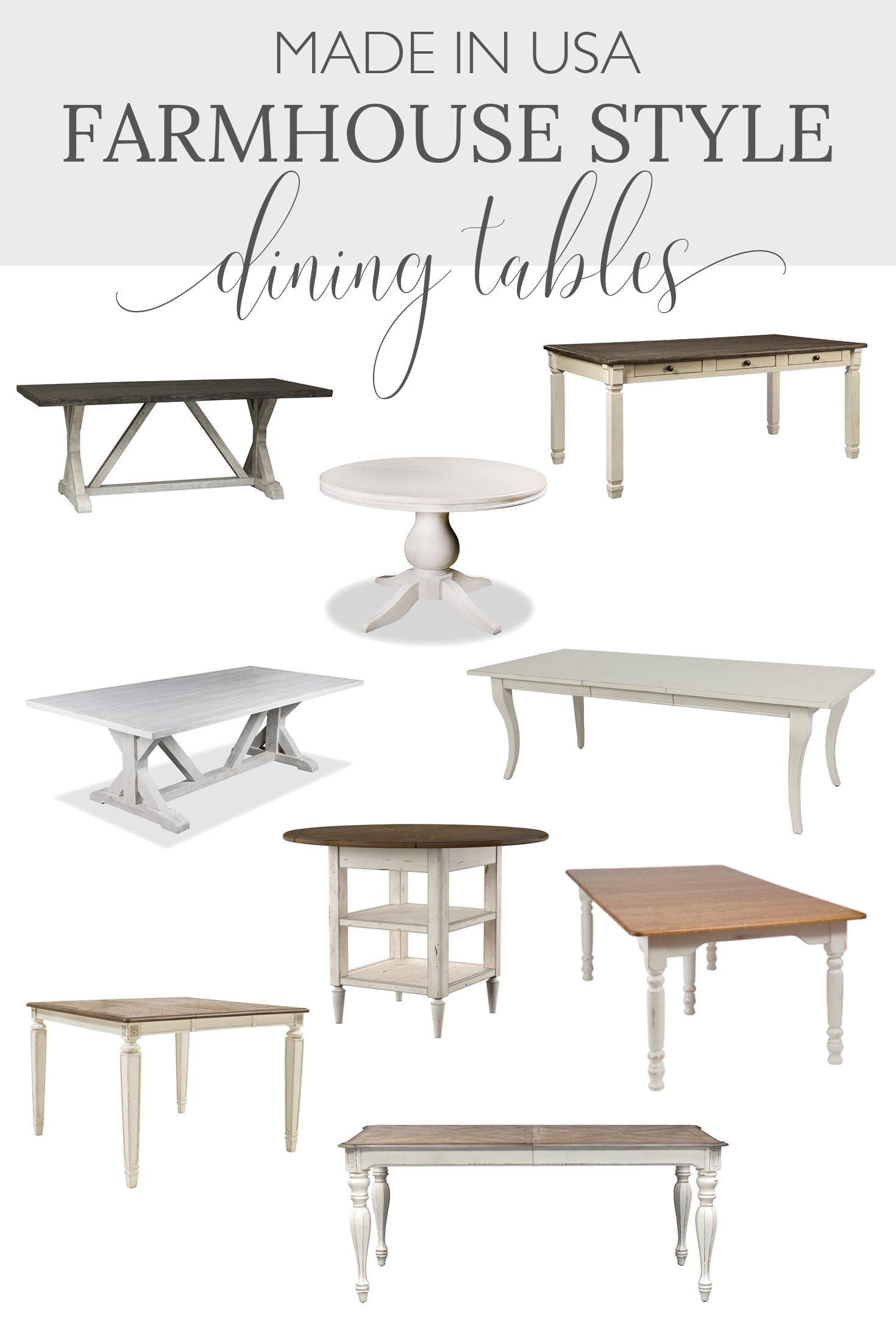 farmhouse dining tables