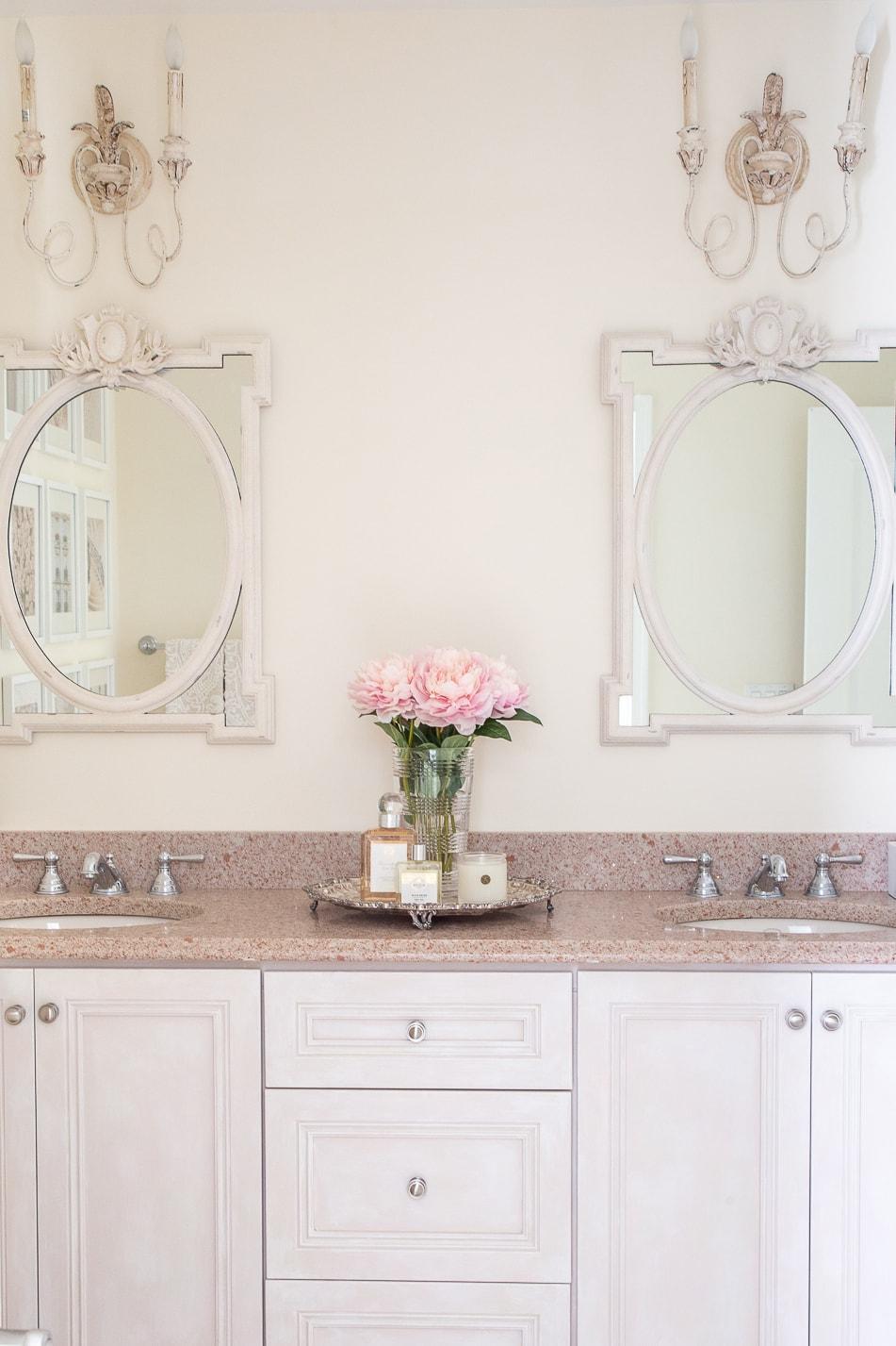 organized bathroom vanity drawers