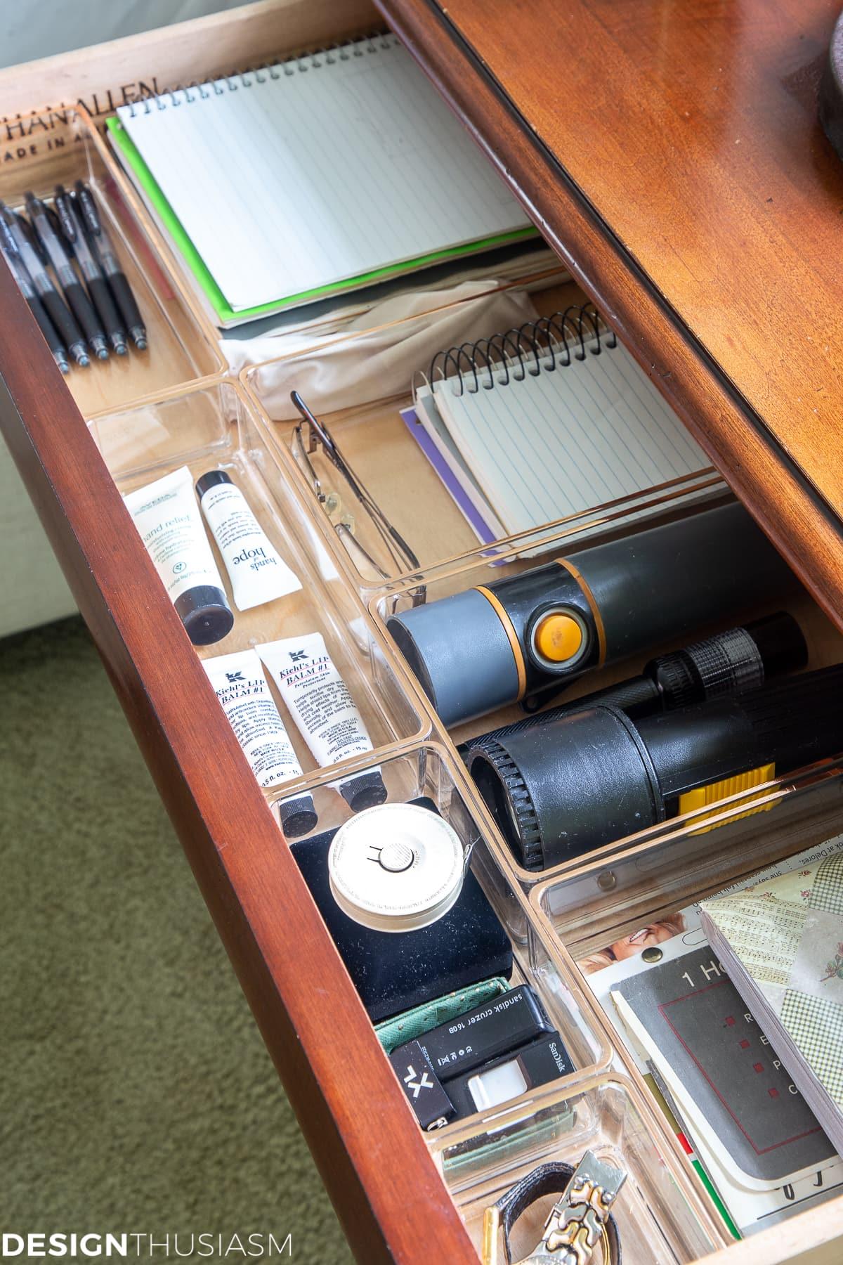 nightstand drawer organization
