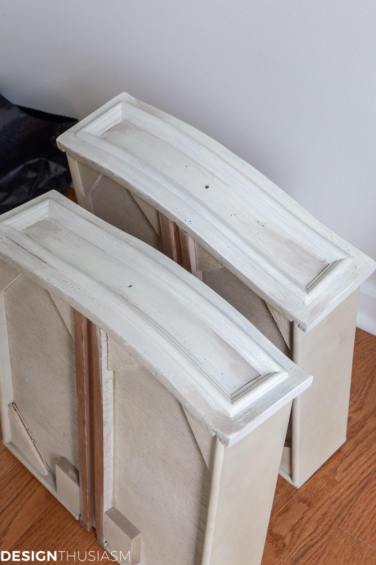 vintage sideboard drawers with shadows
