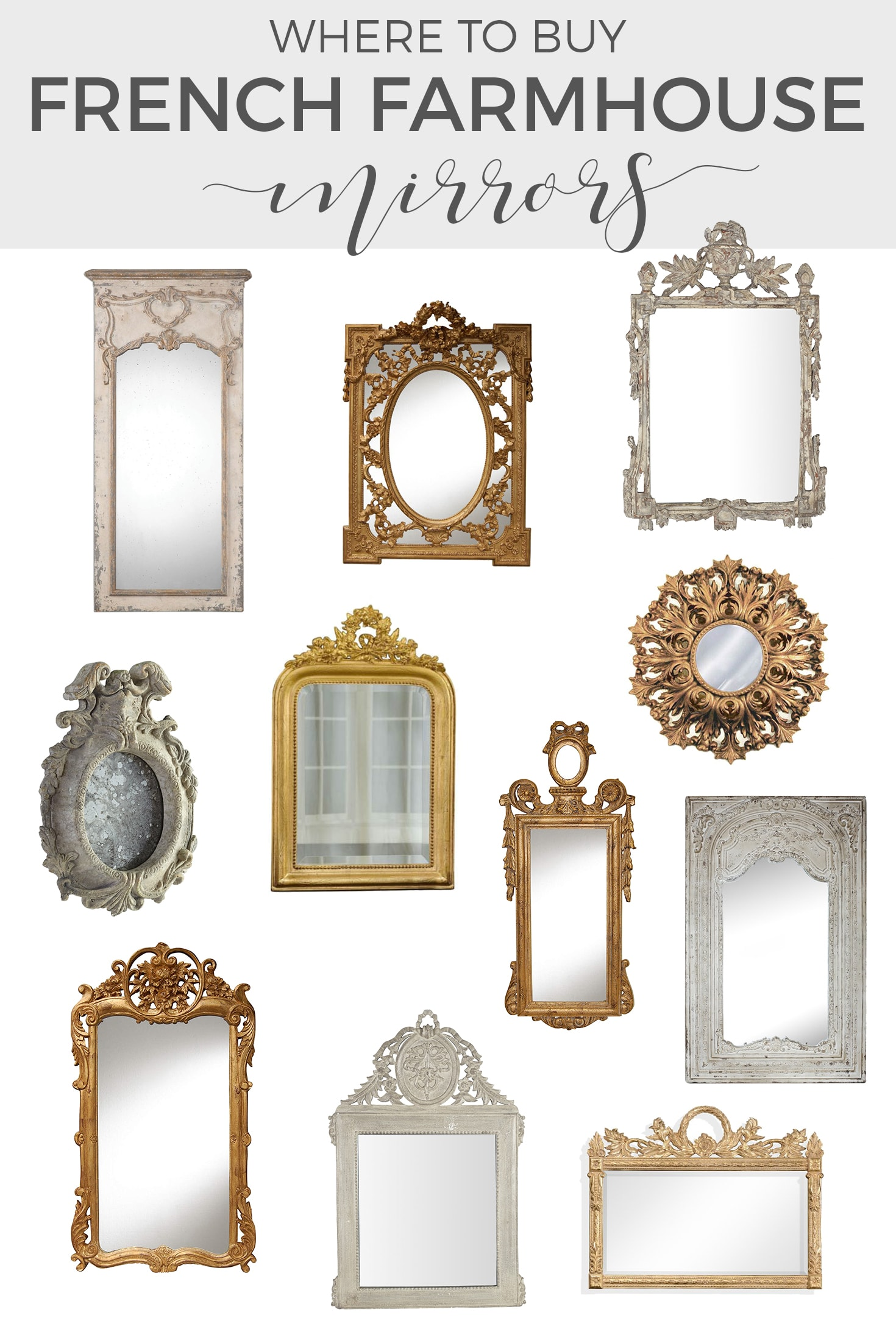 French Country Gilded Mirrors